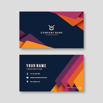 Business card template abstract colorful