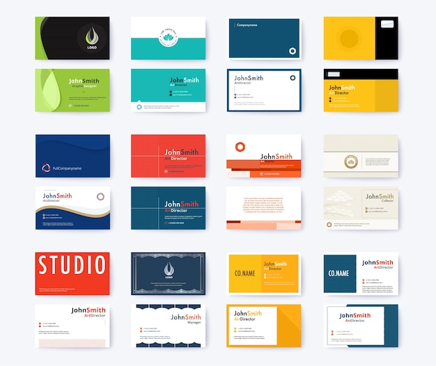 Business card template abstract concept and commercial design