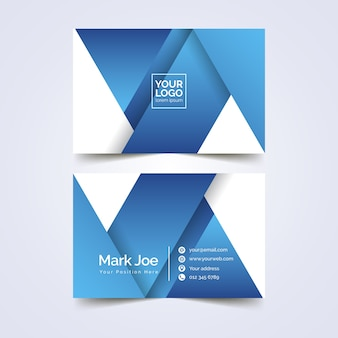 Business card template abstract design