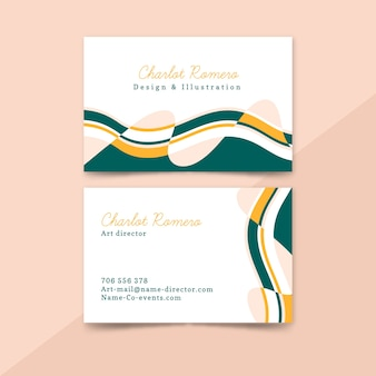 Business card template  abstract painted collection