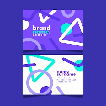 Business card template abstract set