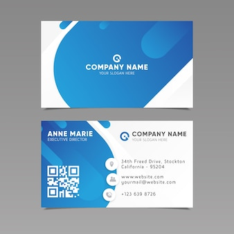 Business card template abstract style