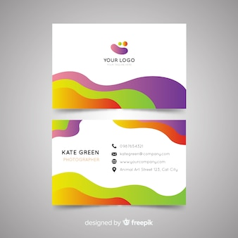 Business card template abstract template