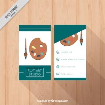 Business card template, art studio