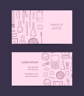 Business card template for beauty brand