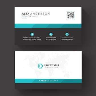 Business card template for business
