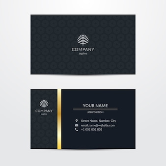 Business card template chic style