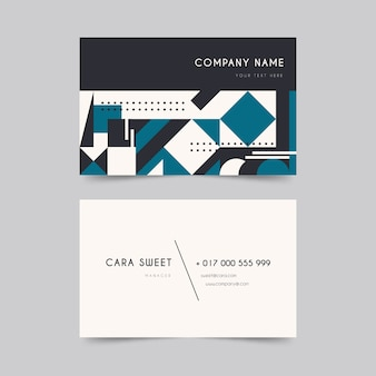 Business card template in classic blue