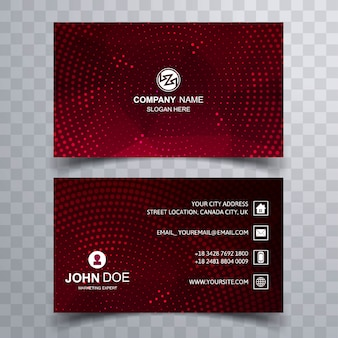 Business card template colorful design