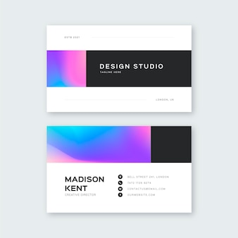 Business card template colorful style