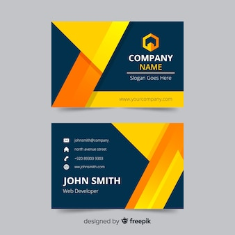 Business card template concept in abstract design