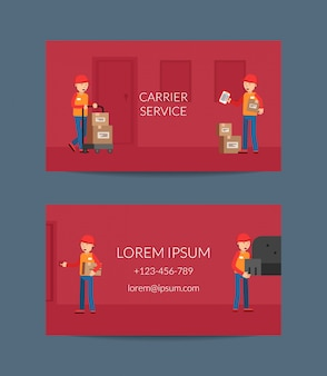 Business card template for delivery service company