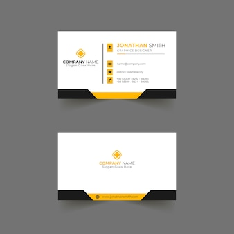 Business card template design for company Premium Vector