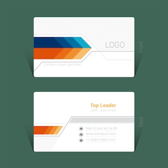 Business card template design concept