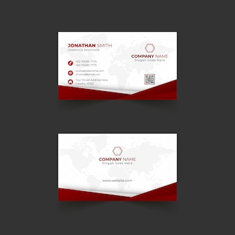 Business card template design with modern layout