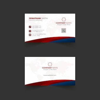 Business card template design with modern shapes