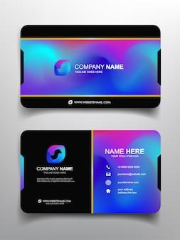 Дизайн шаблона визитной карточки с простым дизайном