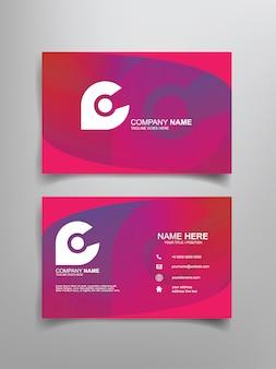 Дизайн шаблона визитной карточки