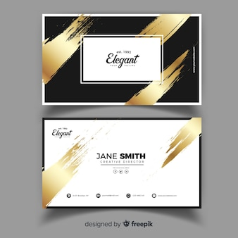Business card template in elegant design