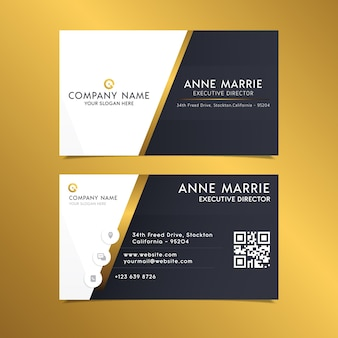 Business card template elegant design