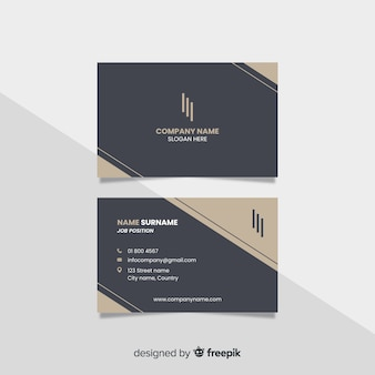 Business card template elegant style