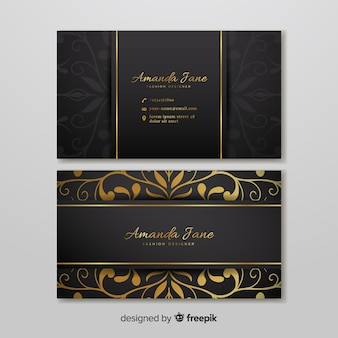 Business card template in elegant style