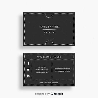 Business card template in flat design