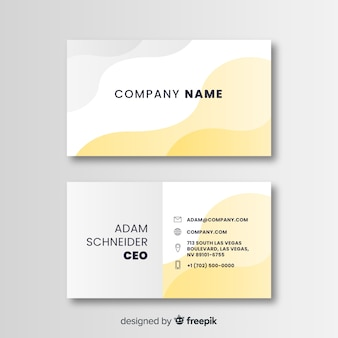 Business card template flat design