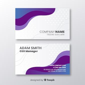 Business card template flat design