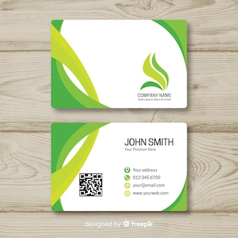 Business card template in flat style