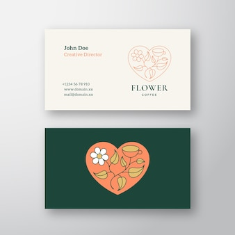 Business card template for florist shop