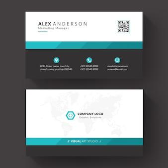 Шаблон визитной карточки для бизнеса