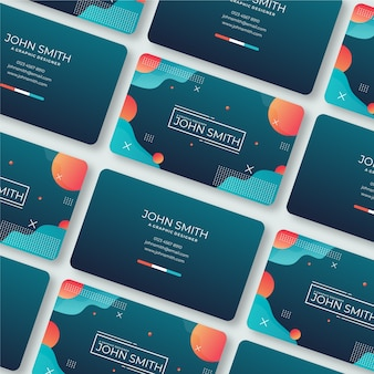 Business card template for funny graphic designer