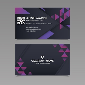 Business card template geometric design