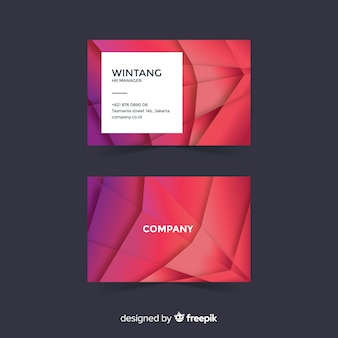 Business card template geometric shapes