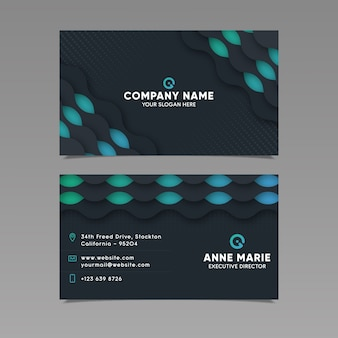 Business card template geometric style