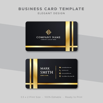 Business card template gold design
