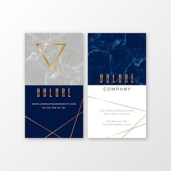 Business card template gold foil symbols