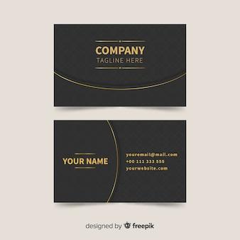 Business card template golden details
