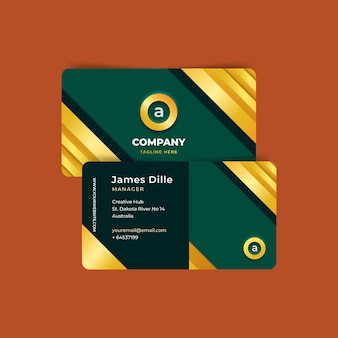 Business card template golden style