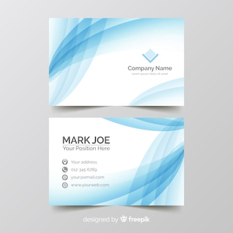 Business card template gradient style