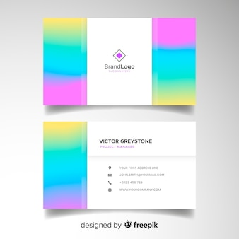 Business card template in gradient style