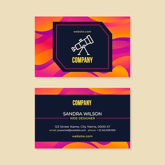 Business card template gradient