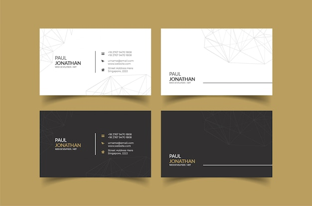 Business card template ideas for personal identity