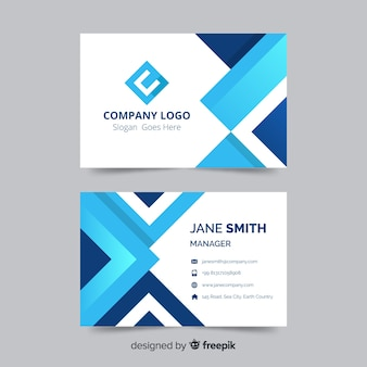 Business card template in abstract design