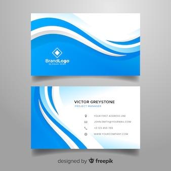 Шаблон визитки в абстрактном стиле Premium векторы