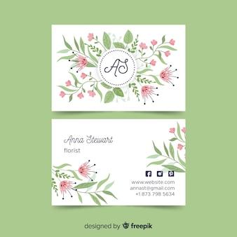 Шаблон визитки в элегантном стиле