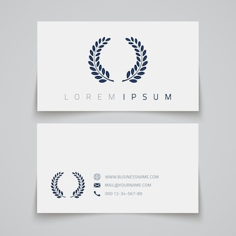 Business card template. laurel concept logo.