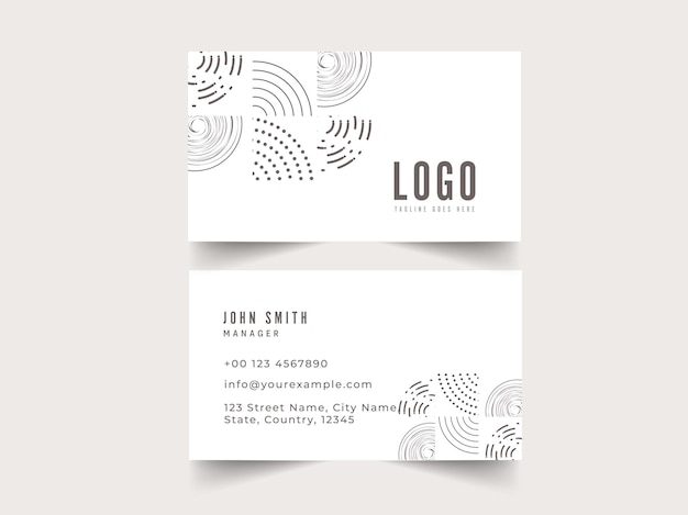 Business card template layout in front and back side.