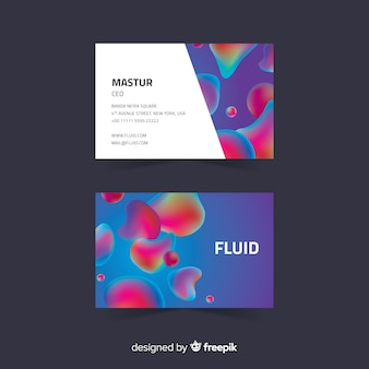 Business card template liquid shapes